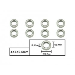 4x7x2.5mm Ball bearings...
