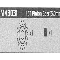 MA3031 15T Pinion Gear...