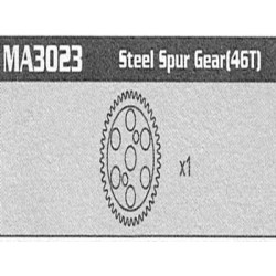MA3023 Steel Spur Gear Raptor